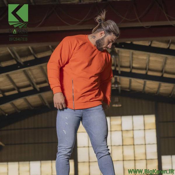 دورس سایز بزرگ مردانه بغل زیپ خور مچ کش رنگ قرمز خرید اینترنتی از سایت بیگ کارن
