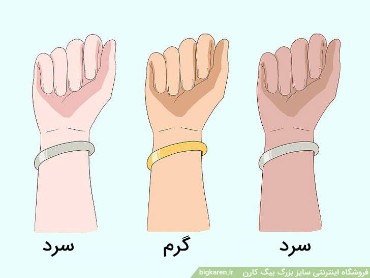 تعیین رنگ پوست با جواهرات