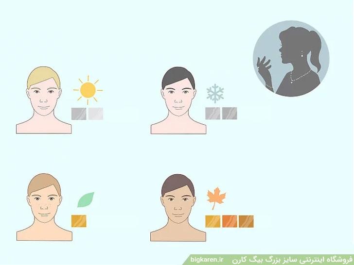 انختاب جواهرات بر اساس رنگ پوست