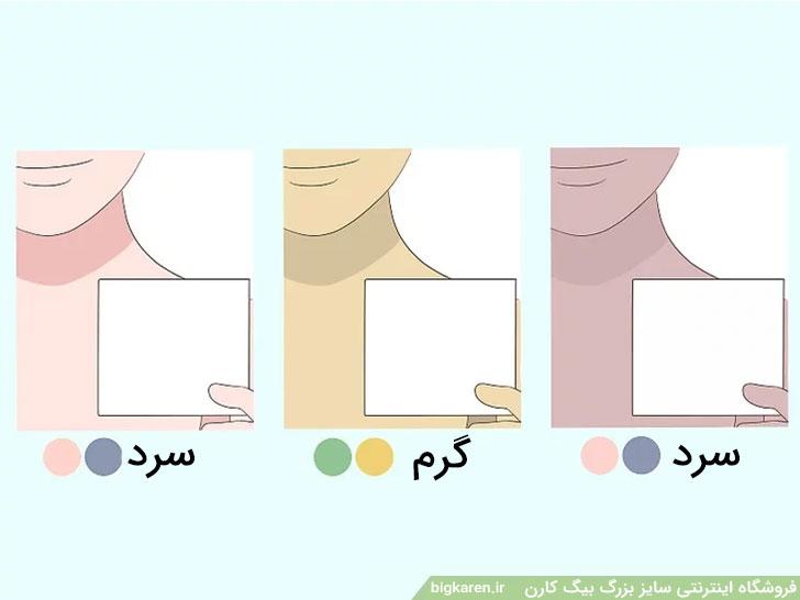 تعیین رنگ پوست با کاغد سفید