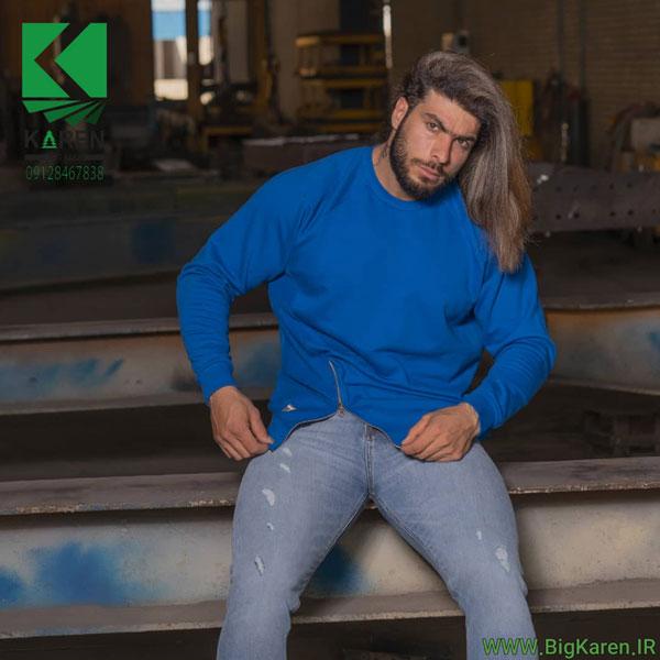 دورس سایز بزرگ مردانه بغل زیپ خور مچ کش رنگ آبی خرید اینترنتی از سایت بیگ کارن