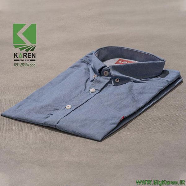 پیراهن سایز بزرگ ترک لی وایز رنگ آبی روشن خرید اینترنتی از سایت بیگ کارن