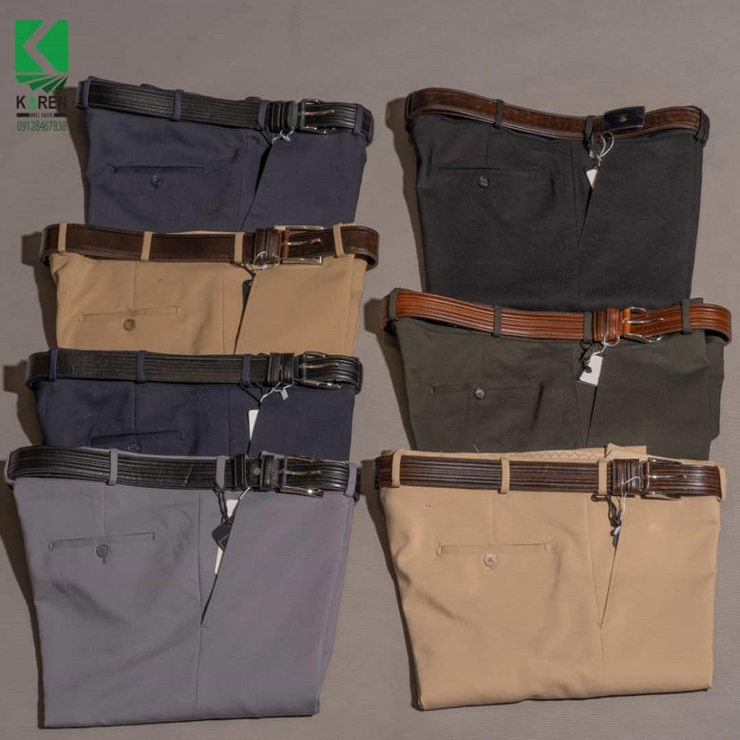 شلوار پارچه ای ۷ رنگ سایز بزرگ مردانه