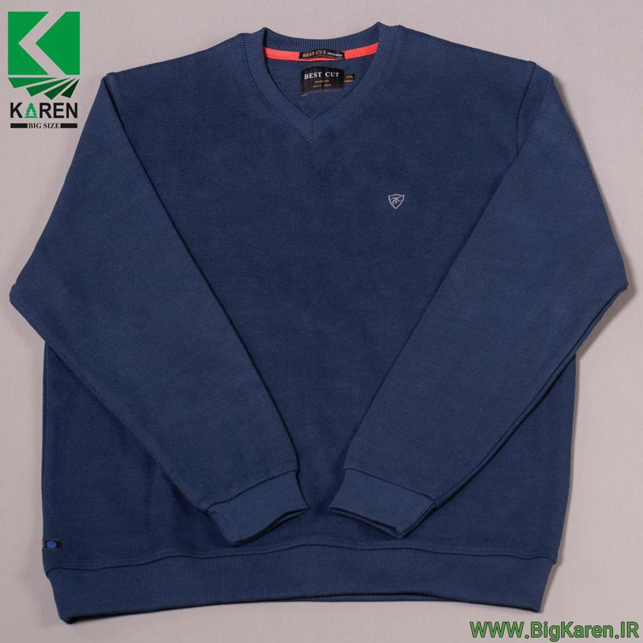 بلوز سایز بزرگ سلانیک یقه هفت مردانه رنگ آبی خرید اینترنتی از سایت بیگ کارن