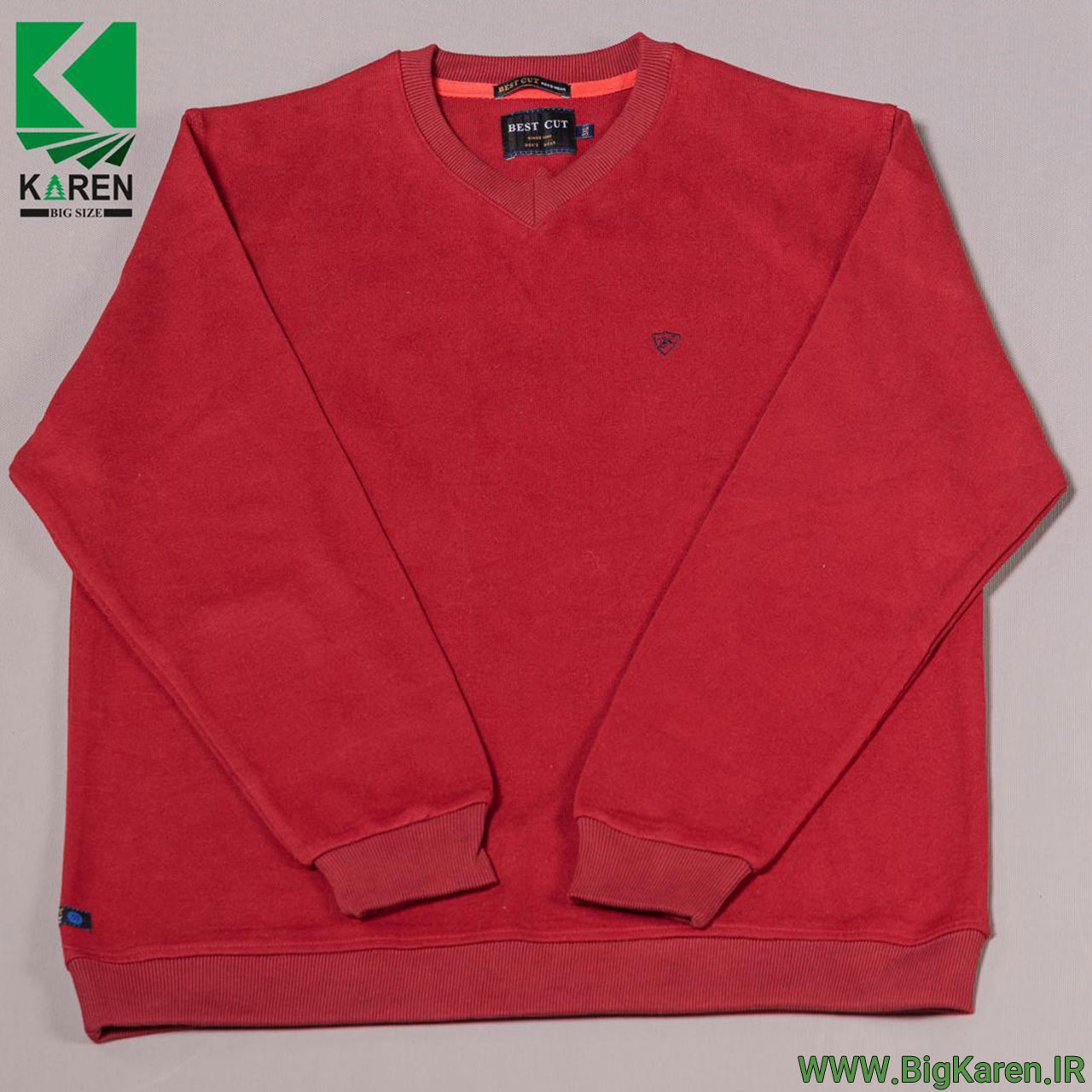 بلوز سایز بزرگ سلانیک یقه هفت مردانه رنگ قرمز خرید اینترنتی از سایت بیگ کارن