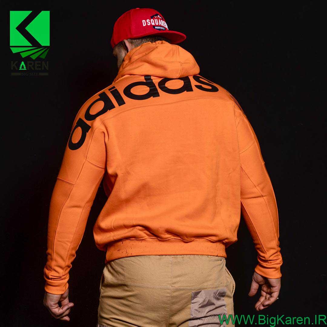 هودی نارنجی سایز بزرگ مردانه