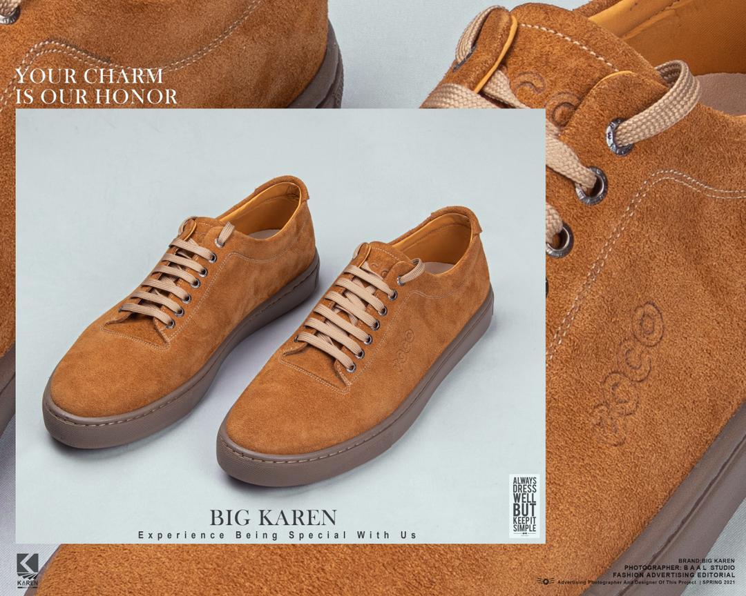 خرید کفش چرم اشبالت سایز بزرگ برند ecco رنگ آجری - کد ۱۰۴