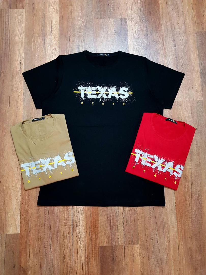 خرید تیشرت سایز بزرگ مردانه یقه گرد TEXAS