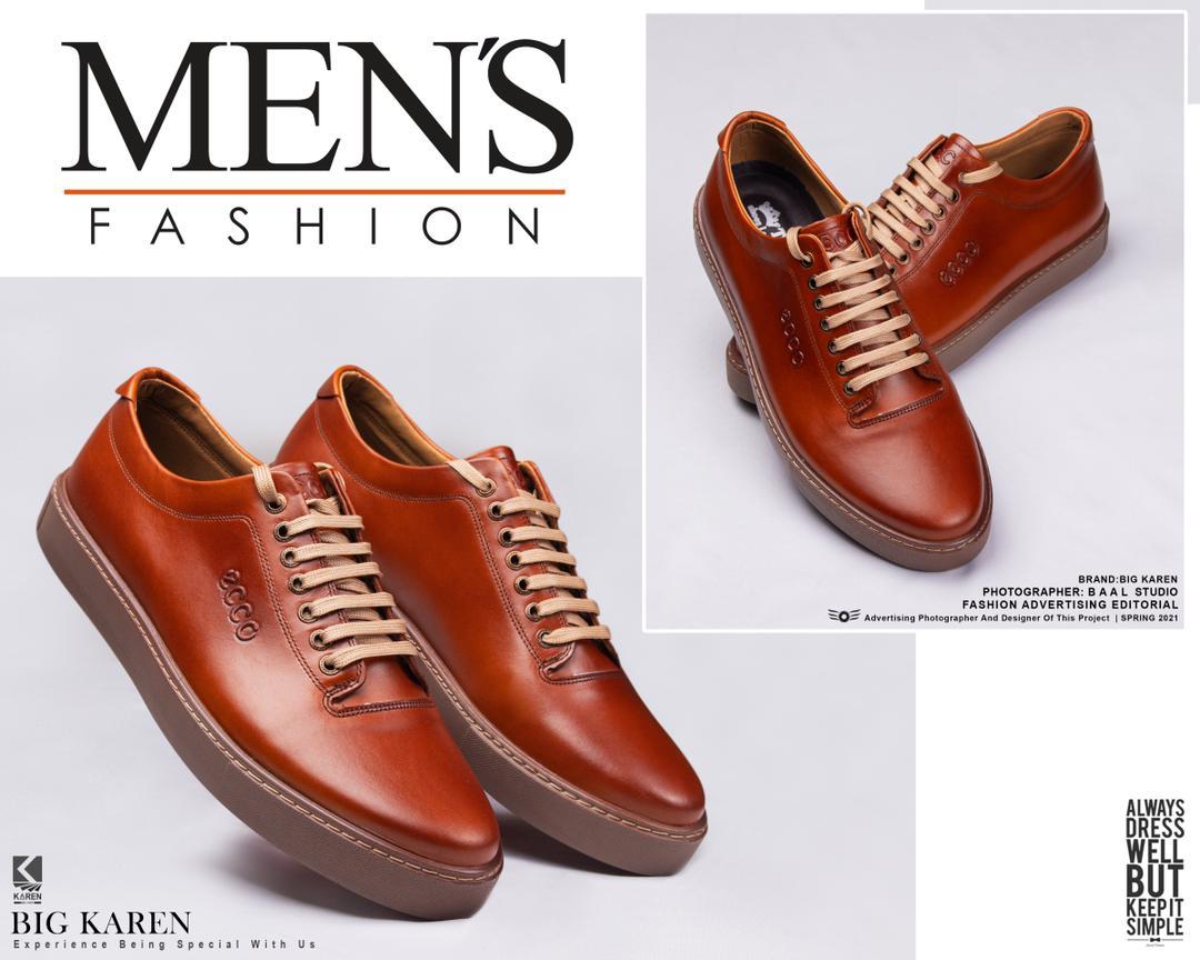 کفش چرم سایز بزرگ مردانه با تخفیف ویژه و ارسال رایگان قهوه ای