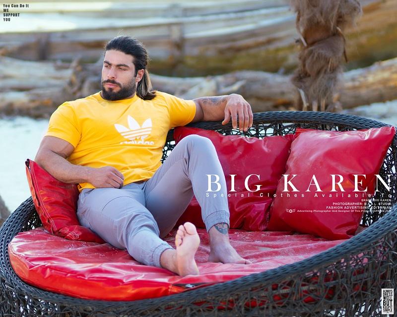 تیشرت سایز بزرگ مردانه پنبه براش آدیداس زرد - کد 167
