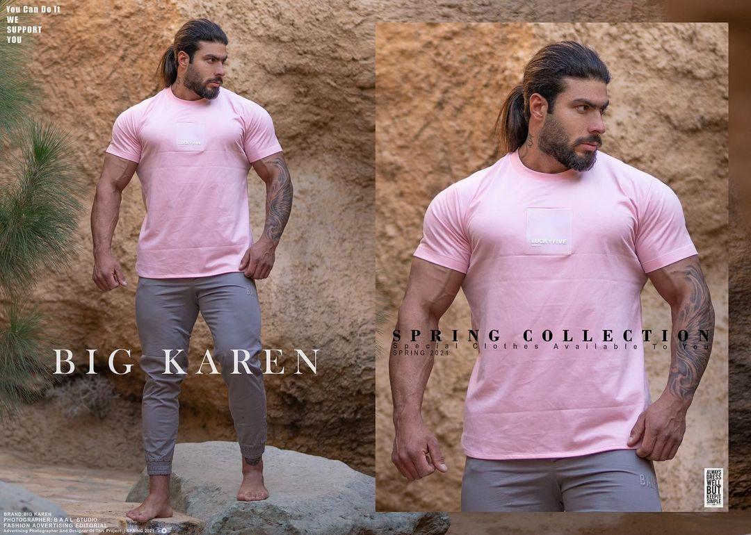 خرید تیشرت سایز بزرگ مردانه پنبه براش طرح دار - کد ۱۵۹