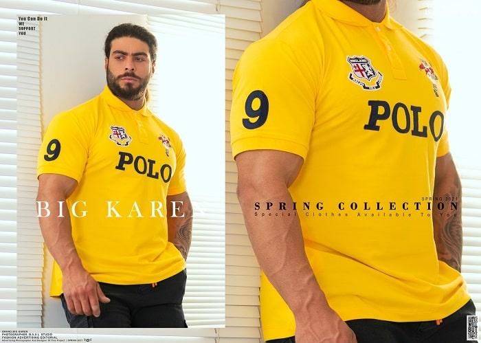 پولوشرت ساز بزرگ مردانه Polo رنگ زرد