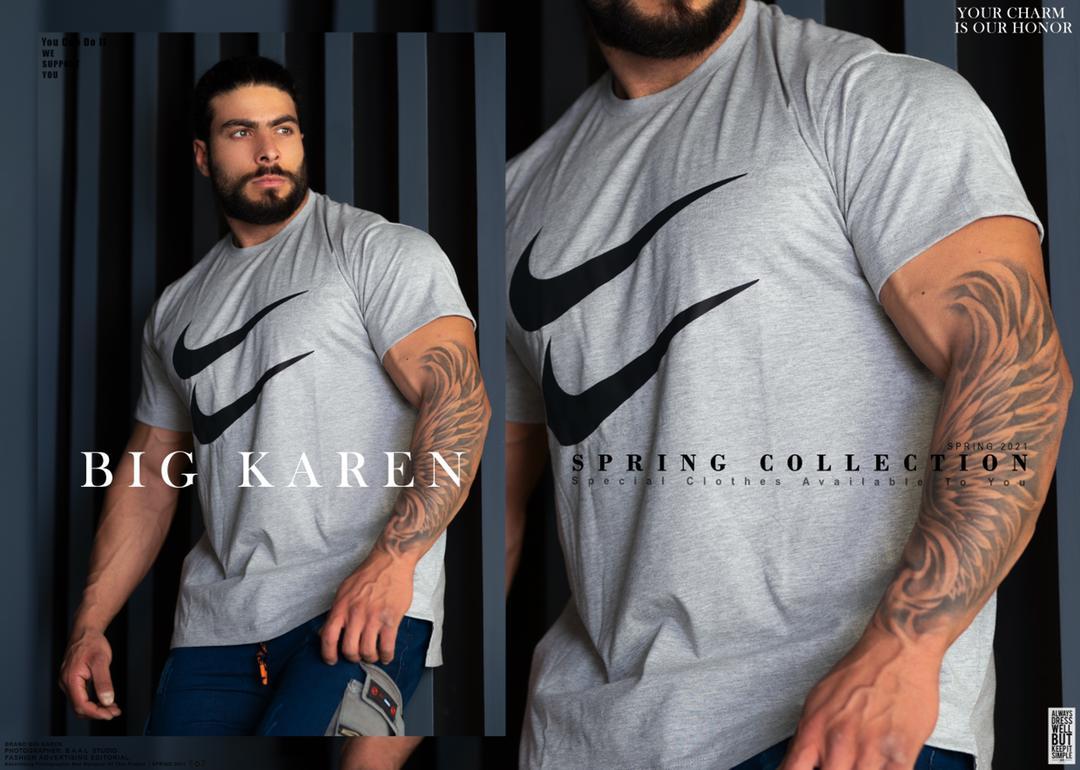 خرید تیشرت سایز بزرگ مردانه پشت بلند کد ۱۷۰ رنگ طوسی