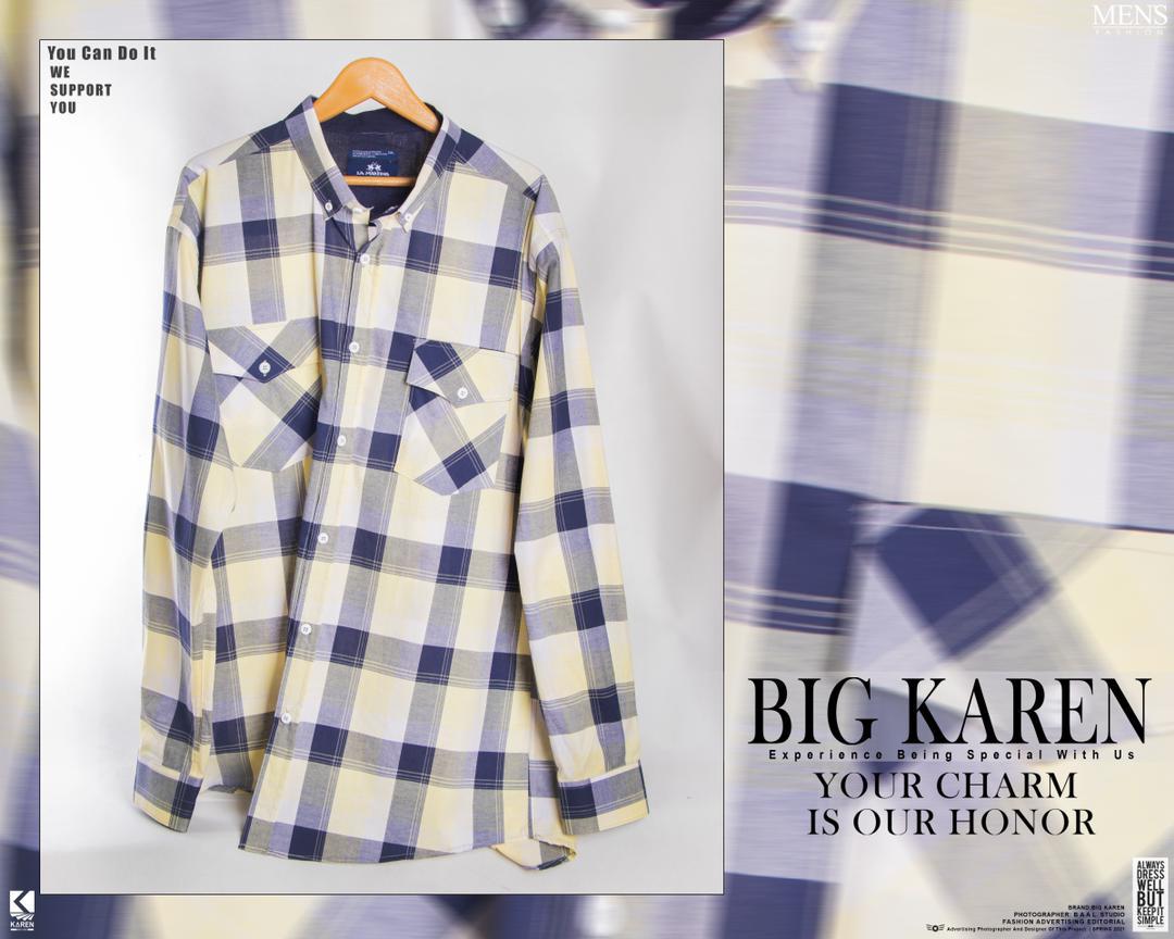 پیراهن سایز بزرگ مردانه نخی چهار خونه دو جیب - کد 175 رنگ سفید