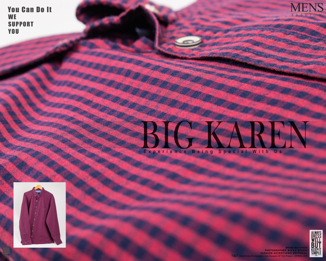 رنگ قرمز پیراهن سایز بزرگ مردانه چهارخونه ریز