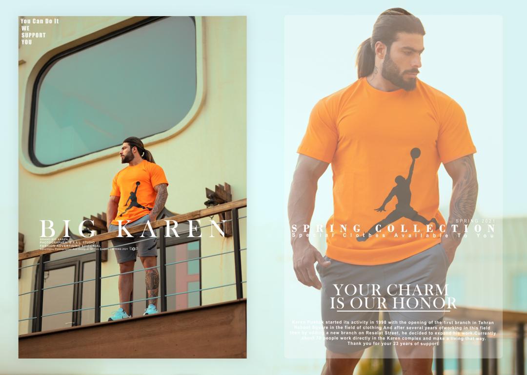 نمونه تیشرت سایز بزرگ مردانه Jordan