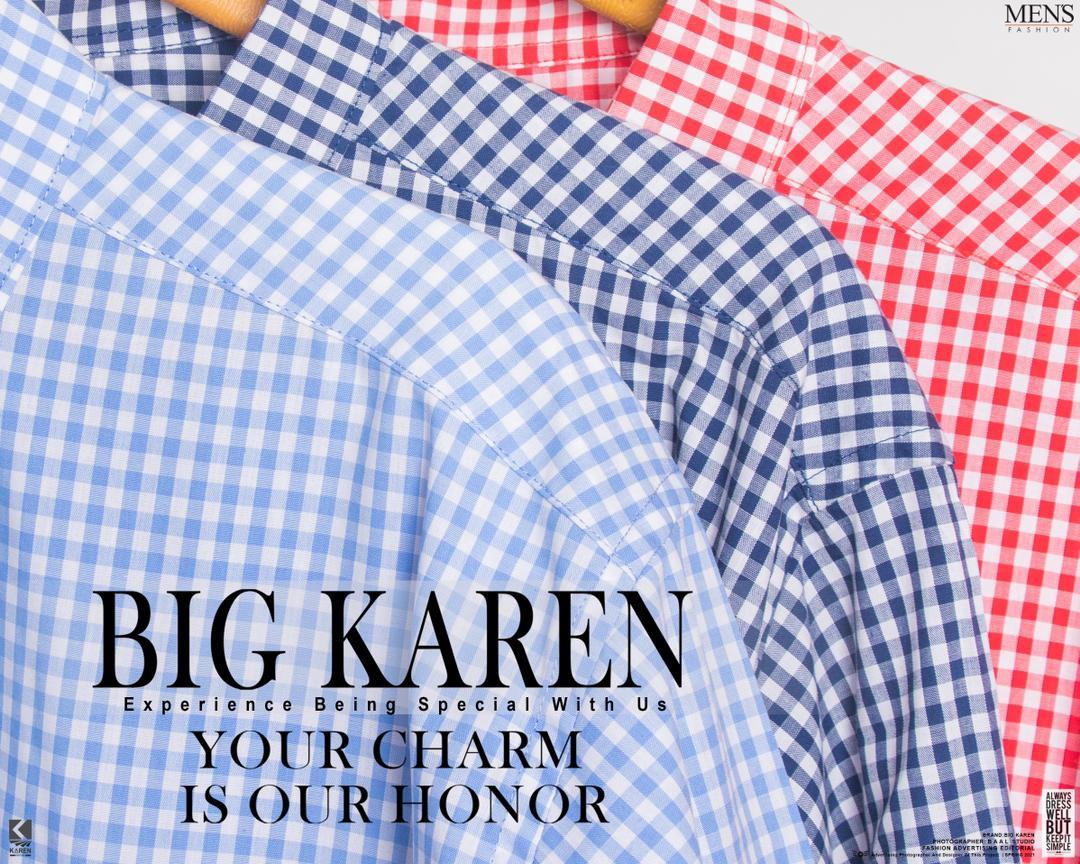 پیراهن سایز بزرگ مردانه نخی چهار خونه ریز - کد 176