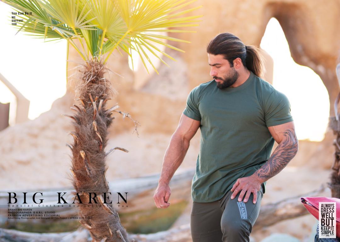 خرید تیشرت سایز بزرگ مردانه پنبه براش طرح دار - کد ۱۵۸