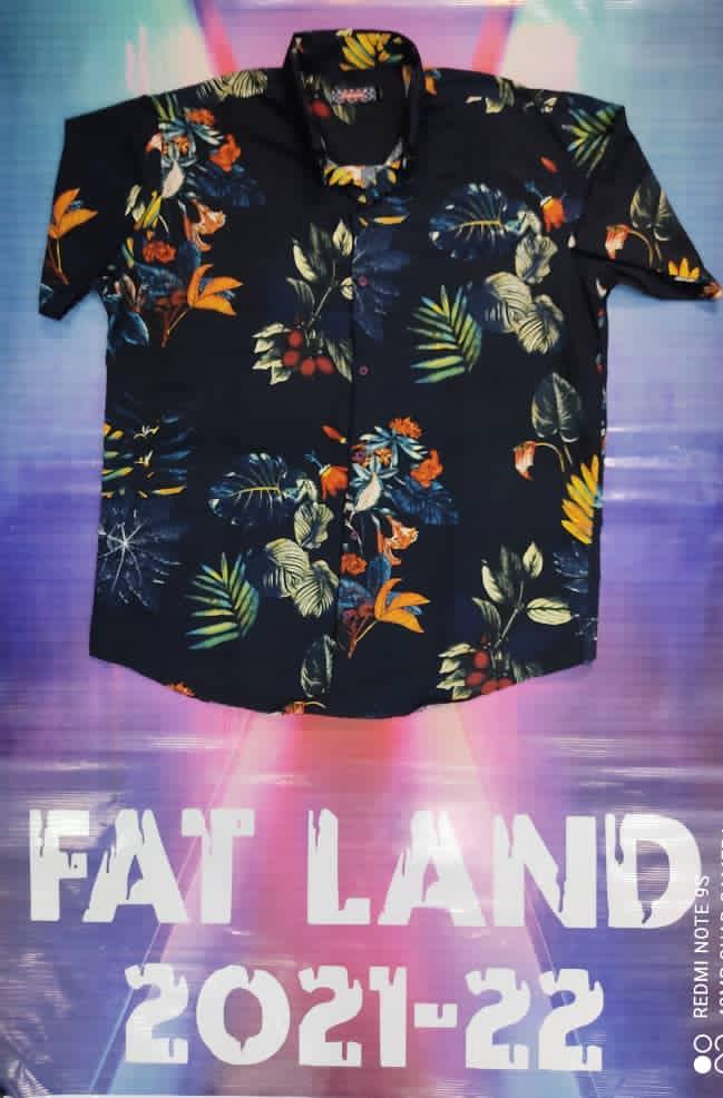 پیراهن هاوایی سایز بزرگ پارچه نخی - کد 183