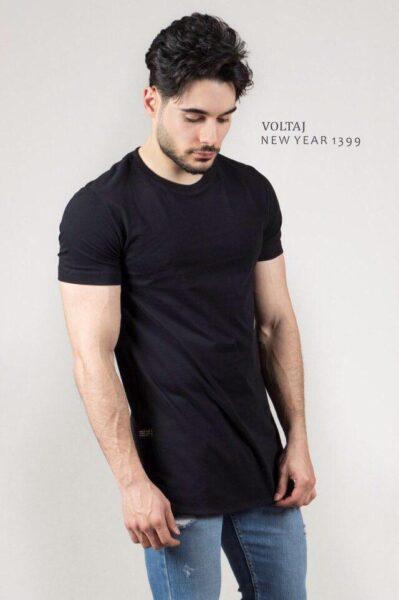 تیشرت سایز بزرگ مشکی برند Zara - کد 214