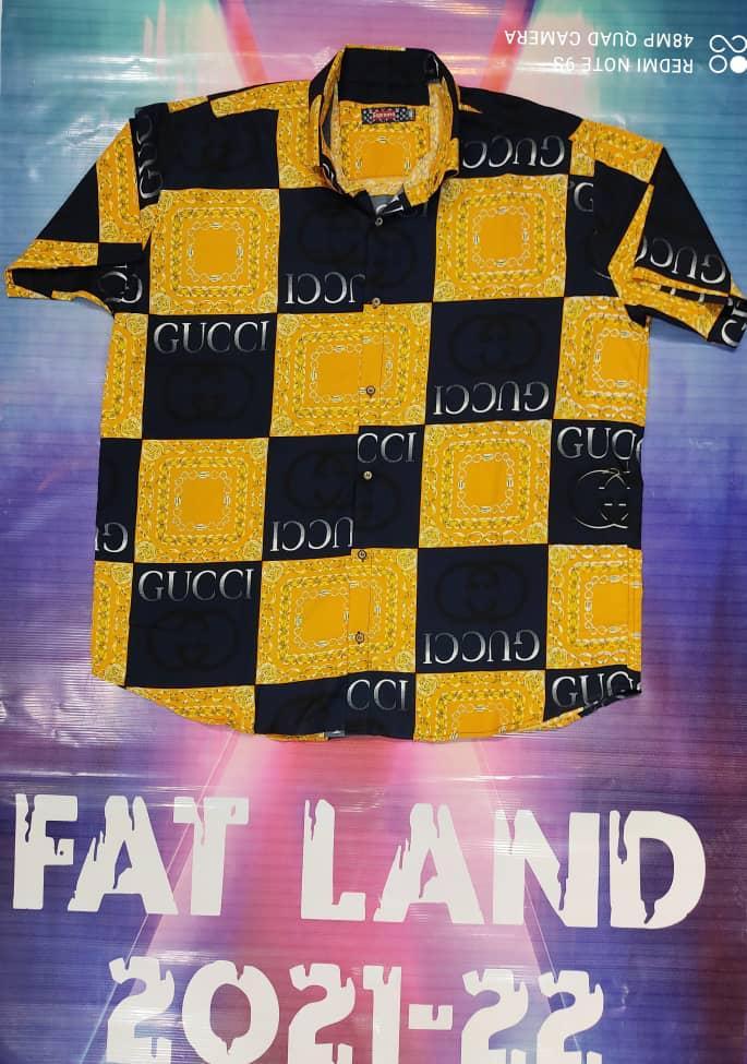 پیراهن هاوایی سایز بزرگ پارچه نخی - کد ۱82
