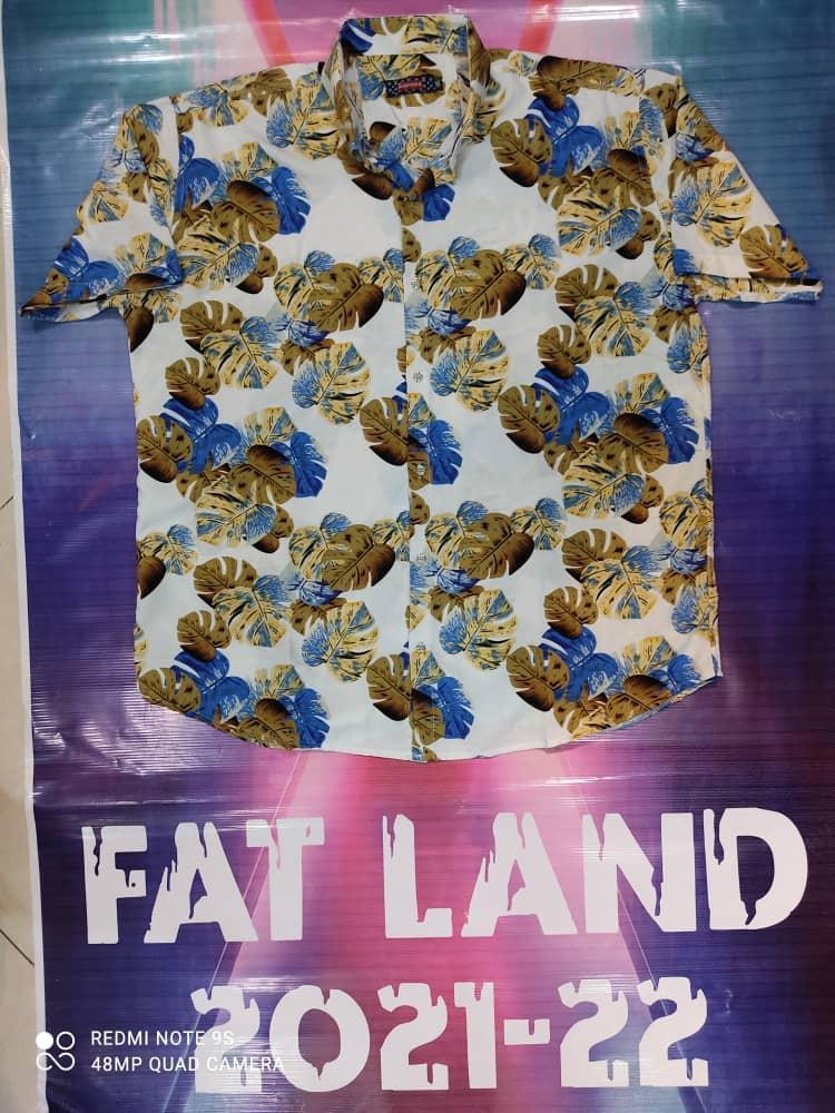 پیراهن هاوایی سایز بزرگ پارچه نخی - کد ۱۷۸