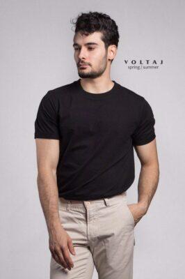 تیشرت سایز بزرگ مشکی برند Pull&Bear