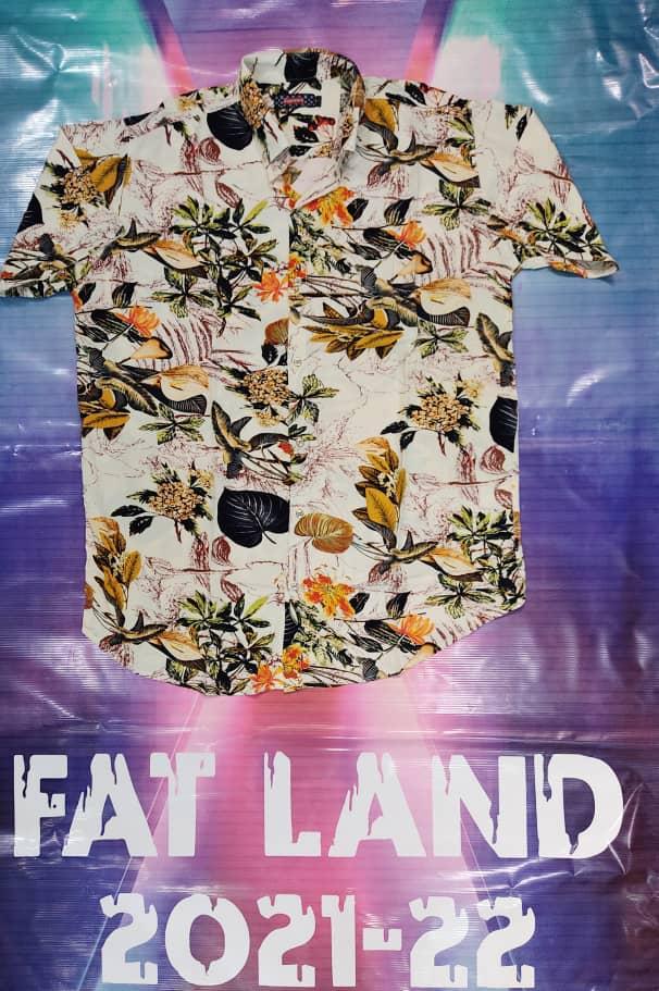 پیراهن هاوایی سایز بزرگ پارچه نخی - کد 188