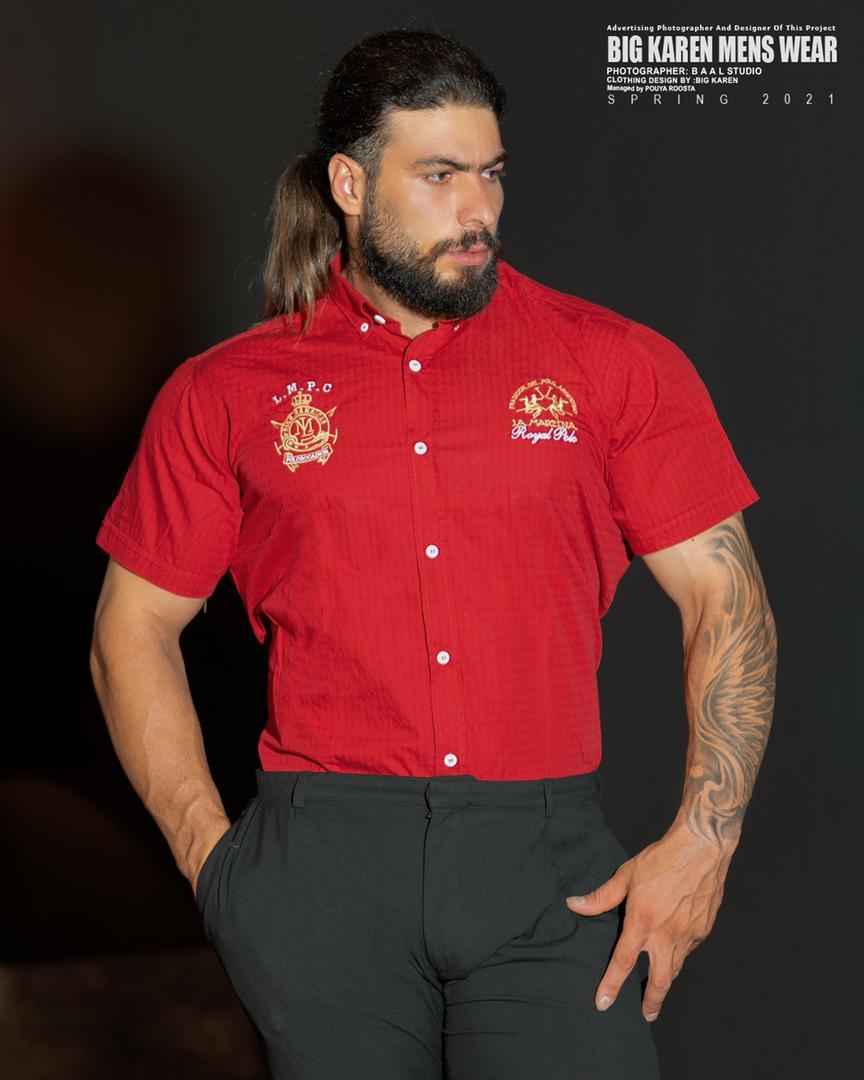 پیراهن سایز بزرگ مردانه برند لامارتینا - کد ۲۱۰